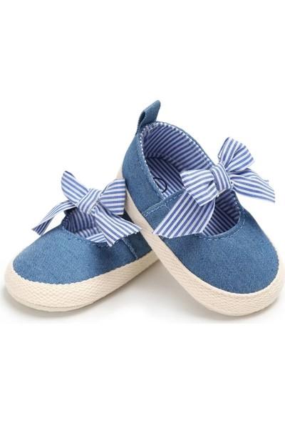 Romirus Bebek Ayakkabı Makosen Kurdeleli Mavi 19