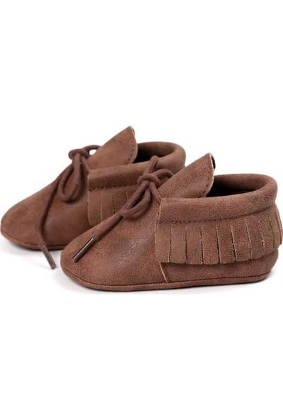 Romirus Bağcıklı Bebek Ayakkabı Makosen Kahverengi 18