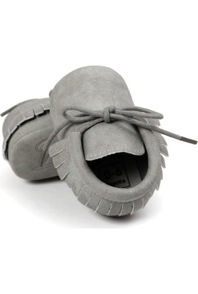 Romirus Bağcıklı Bebek Ayakkabı Makosen Gri 17