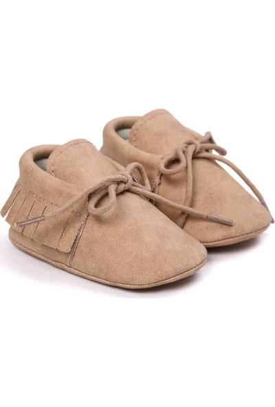 Romirus Bağcıklı Bebek Ayakkabı Makosen Açık Kahve 17