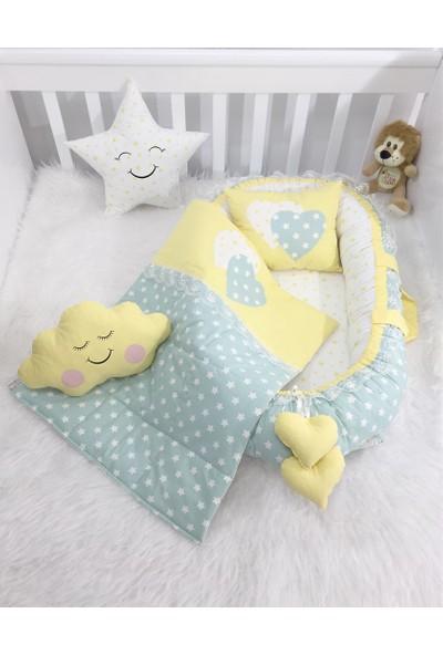 Modastra Mint Yeşili ve Sarı Tasarım Özel Babynest Set