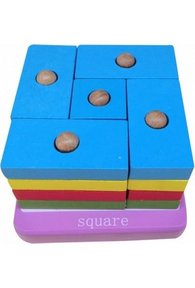 Hongji Ahşap Kare Renk Tamamlama Puzzle