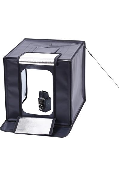 Deyatech Ürün Çekim Çadırı 60X60Cm Ledli 5500Kw Professional Mini Sütdyo