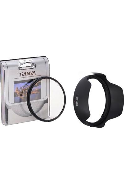 Tianya Canon 24-70Mm F2.8 L Usm Iı Lens İçin 82Mm Slim Uv Filtre + Ew-88C Parasoley