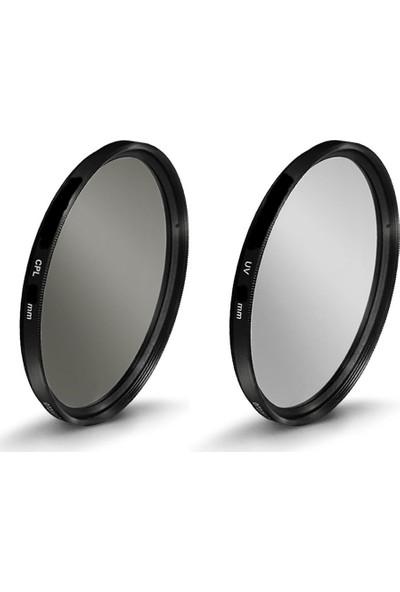 Beta Canon İçin 62Mm Lensler İçin Uv + Cpl Polarize Filtre - Beta