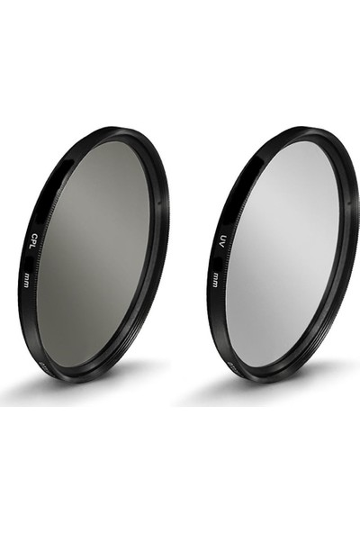 Beta Canon İçin 72Mm Lensler İçin Uv + Cpl Polarize Filtre - Beta