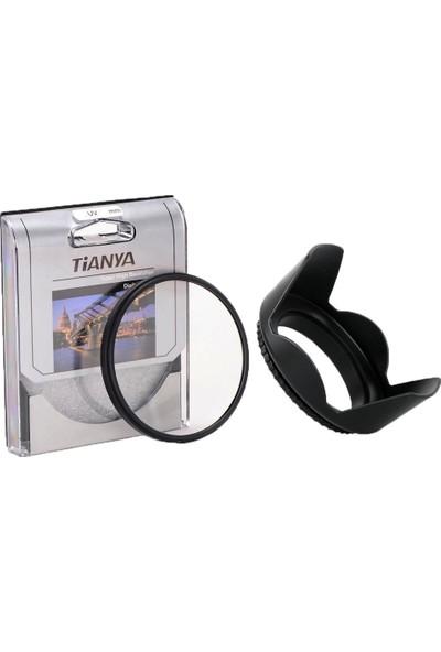 Tianya Nikon 50Mm F/1.4 D Lens İçin 52Mm Slim Mc Uv Filtre + Yaprak Parasoley - Tianya