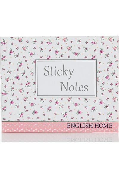 English Home Rosey Yapişkanli Not Defteri 16X20 Cm Renkli
