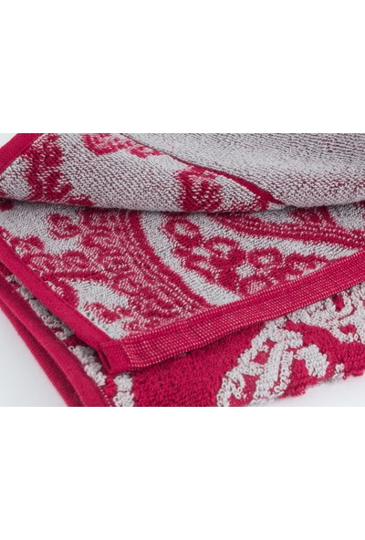 English Home Paisley Chic İpliği Boyali Yüz Havlusu 50X80 Cm Bordo