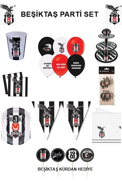 Hobby Concept Beşiktaş Taraftar Doğum Günü 8'li Set
