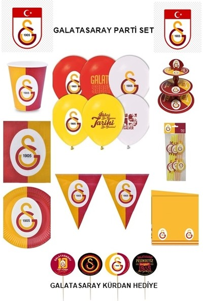 Hobby Concept Galatasaray Taraftar Doğum Günü 8'li Set