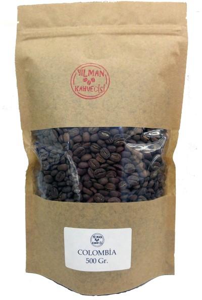 Yılman Kahvecisi Colombian (Kolombiya) Orta Kavrulmuş Tam Çekirdek Filtre Kahve 500 gr