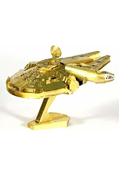 Soico Lazer Kesim Metal Model Uzay Gemisi Milenyum Falcon Altın Rengi