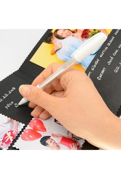 Anıdefteri Beyaz Kalem Ve Siyah Anı Defteri - Fotoğraf Albümü