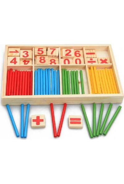 Okcu Hediyelik Eğitici Bebek Çocuk Ahşap Matematik Oyuncakları Zeka Geliştirici