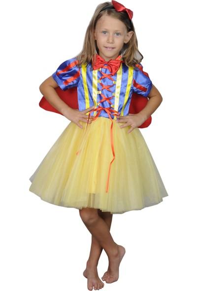 Butikhappykids Kız Çocuk Pamuk Prenses Kostümü Tütülü Kısa Model Taç Ve Papyon Ve Pelerin Ve Elbise
