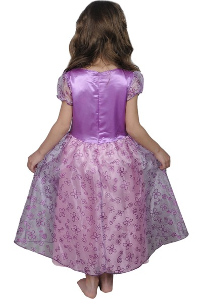 Butikhappykids Kız Çocuk Prenses Sofia Kostümü Ve Taç