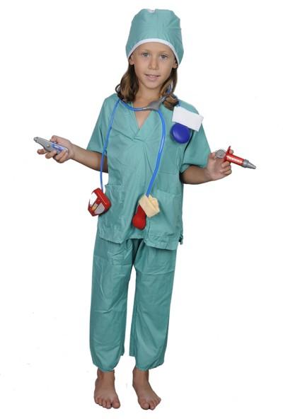 Butikhappykids Unisex Cerrah Kostümü Full Aksesuarlı