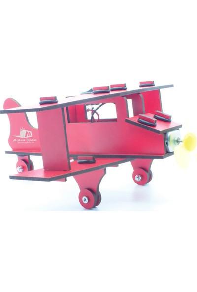 Makers Dükkan Ahsap Pervaneli Uçak - Stem Maker