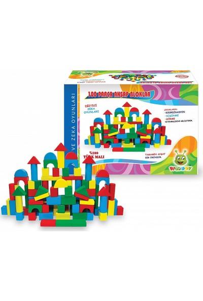 Woodoy Kr085 Woodoy 100 Parça Ahşap Bloklar