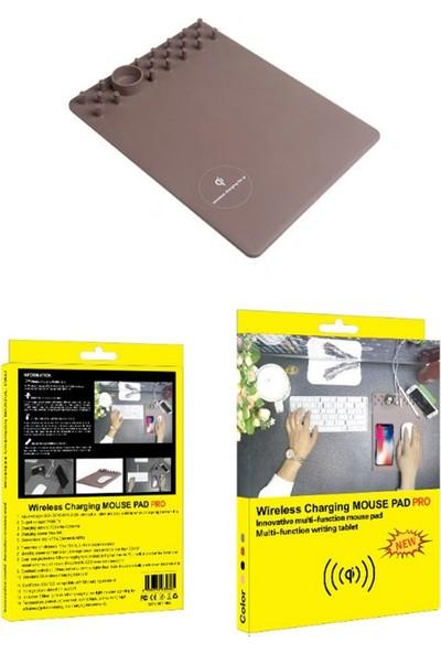 Schulzz Kaymaz Çok Fonksiyonlu Wireless Kablosuz Şarj Mouse Pad Pro Gri