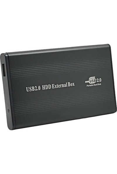 CresCent External 2.5 İnç Sata USB 2.0 Harici Harddisk Kutusu Deri Kılıflı