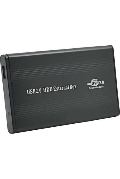 CresCent USB 2.0 External 2.5 İnç İde USB Harici Harddisk Kutusu Deri Kılıflı