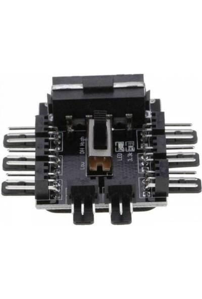 Platoon PLH117 Fan Kontrol 8 Kanal 3 Pin Fan Splitter Molex Power 8'li Fan