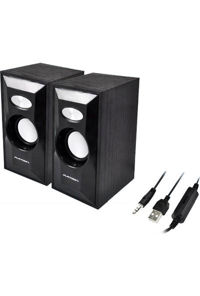Platoon PL-4010 1+1 USB Speaker
