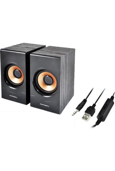 Platoon PL-4006 1+1 USB Speaker