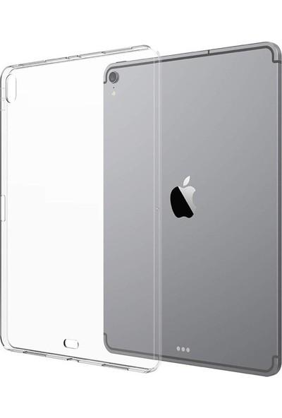 Redpoloshop Apple iPad Pro 11 İnch 2018 A1980 A2013 A1934 A1979 Kılıf 0,2 mm Silikon Tpu + Ekran Koruyucu Cam