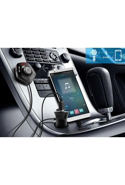 S-Link SL-BT232 Led Ekran USB+Tf Desteği 2.1A Bluetooth 32Gb Destekli Fm Transmitter