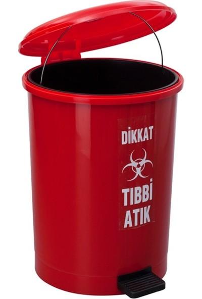 Şenyayla Tıbbi Atık Pedallı Çöp Kovası 40 L 4219