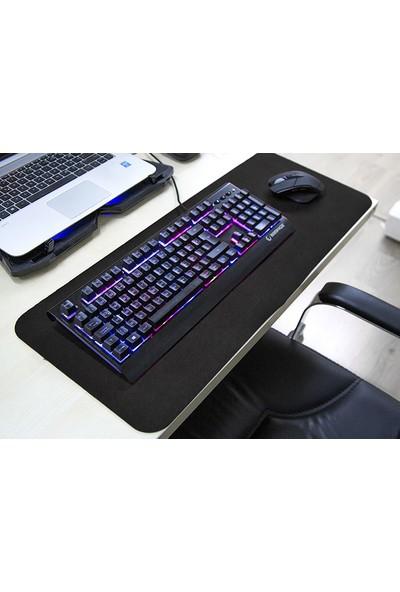 Tkz 300 x 700 x 3 mm Oyuncu Uzun Kaymaz Mouse Pad - Siyah