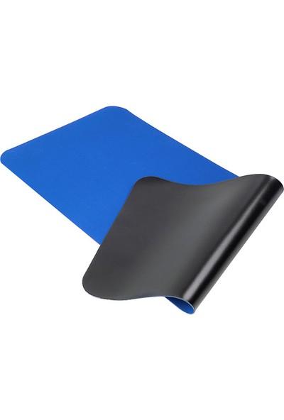 Tkz 300 x 700 x 3 mm Oyuncu Uzun Kaymaz Mouse Pad - Mavi