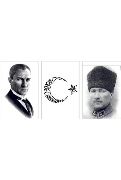 Reti̇color Atatürk Ve Ay Yıldız Desenli Mdf Tablo