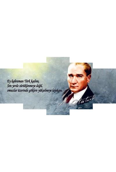 Reticolor Atatürk Ve Türk Kadını Mdf Tablo