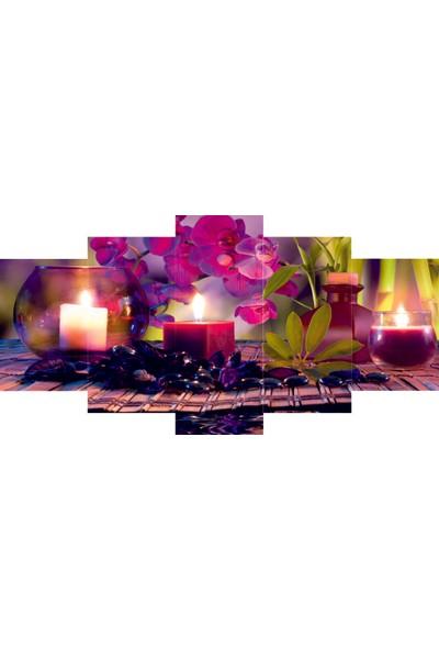 Reticolor Mor Renkli Orkide Mdf Tablo