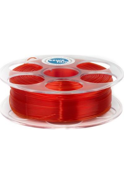 Azure Film PLA Filament - Transparan Kırmızı 1,75 mm, 1 kg