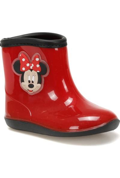 Mickey Mouse 97238 Kırmızı Siyah Kız Çocuk Panduf