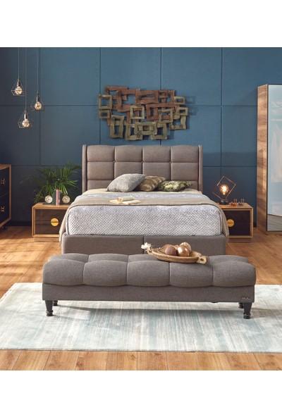 Event Yatak Odası Sandıklı Baza Karyola + Başlık + Bench