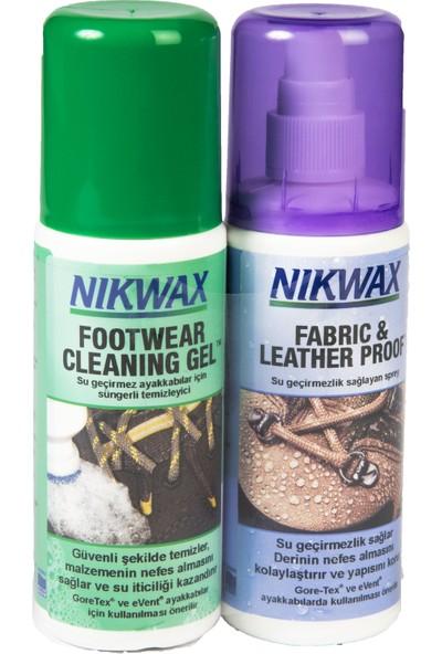 Nikwax İkili Paket Twin Fabric & Leather Spray + Footwear Cleaning Gel