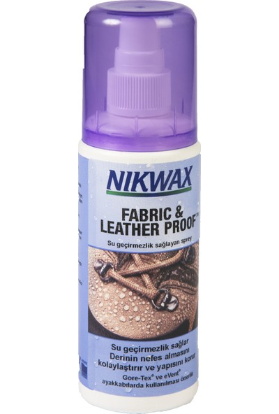 Nikwax Fabric And Leather Proof Kumaş Ve Deri Su Geçirmezlik Spreyi