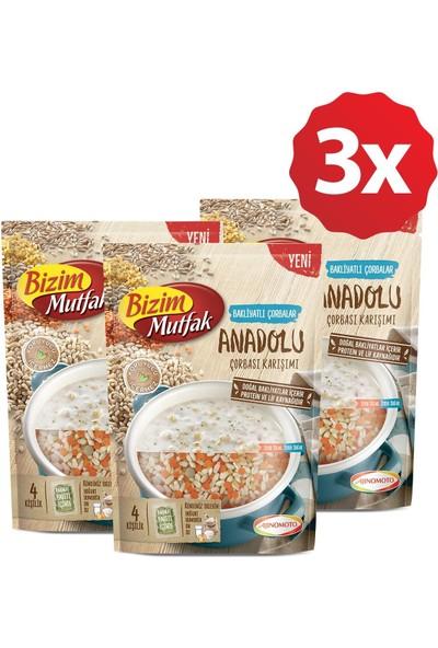 Bizim Mutfak Bakliyatlı Çorbalar - Anadolu Çorbası Karışımı 3'lü Paket