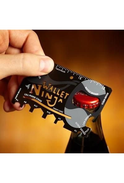Blueway Ninja Wallet 18 in 1 Çok Fonksiyonlu Açacak Kart Ninja Kart Bıçak