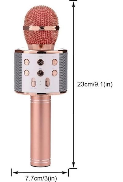 Wster Ws-858 Karaoke Mikrofon Bluetooth Hoparlör Aux Usb Mikro Sd Kart Girişli