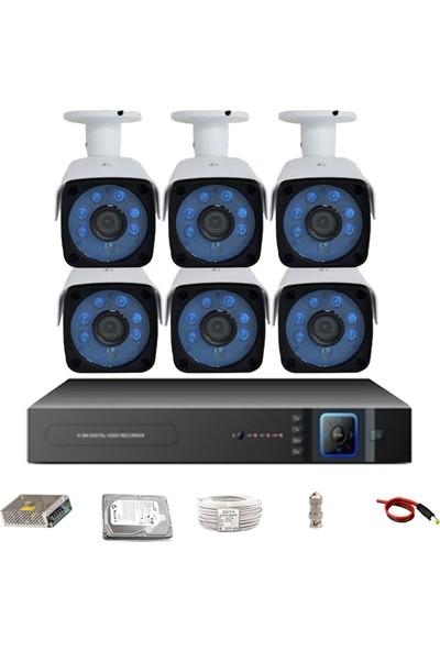 Promax Pro-153Sk6 6 Kameralı 3 Megapiksel Sony Lens 1080P Aptina Sensör Güvenlik Kamerası Seti