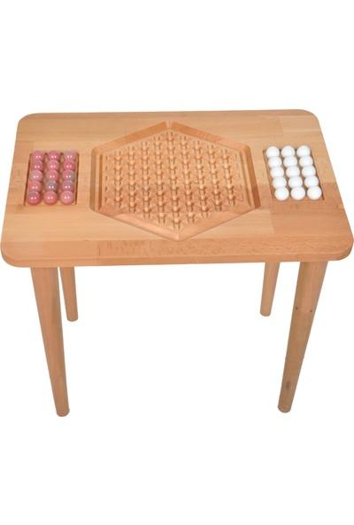 Zeka Evim Ahşap Abalone Roll Turnuva Masası
