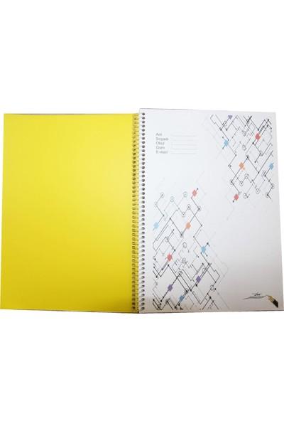 Color Liva A4 Pp Kapak Spiralli Okul Defteri 6'Lı 120 Yaprak Çizgisiz