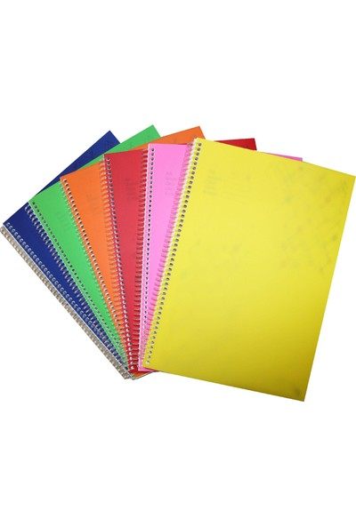 Color Liva A5 Pp Kapak Spiralli Okul Defteri 6'Lı 72 Yaprak Çizgisiz
